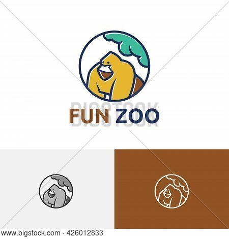 Gorilla Fun Zoo Animal Jungle Rescue Wildlife Reserve Logo