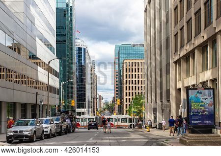 Cityscape View With Skyscrapers In Downtown Of Ottawa, Canada.