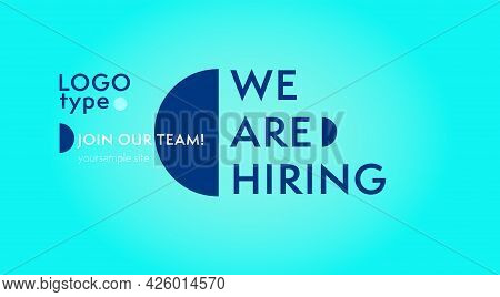 Business Hiring And Recruiting Company Website Template. We Are Hiring Design With Logotype And Join