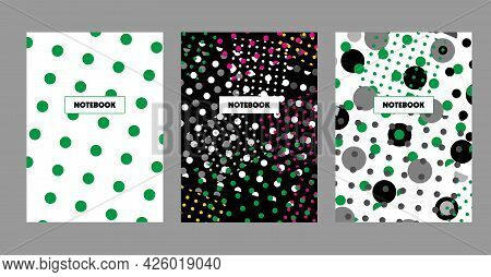 Book Cover Design. Cover Page Templates. Notebook For College, A School Notebook. Vector Illustratio