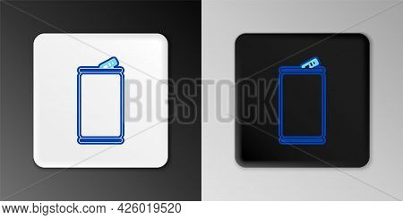 Line Aluminum Can Icon Isolated On Grey Background. Colorful Outline Concept. Vector