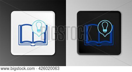 Line Interesting Facts Icon Isolated On Grey Background. Book Or Article And Light Bulb. Colorful Ou