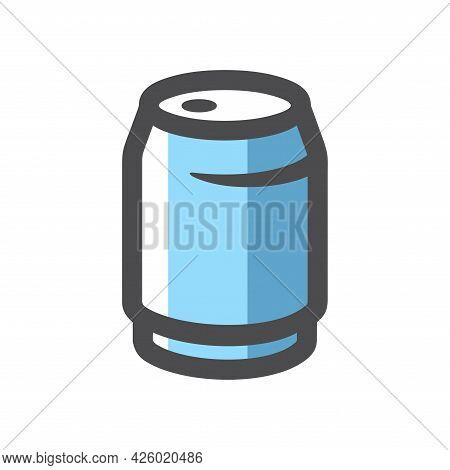Aluminum Can Blue Vector Icon Cartoon Illustration