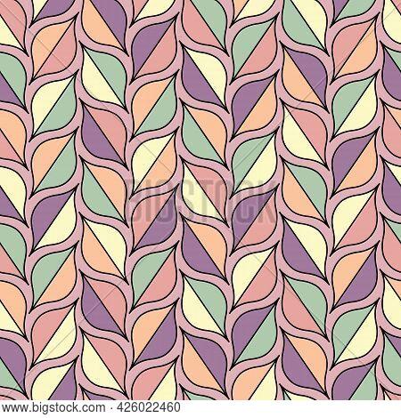 Retro, Multicolor Pastel Geometric Theme Seamless Repeating Pattern.