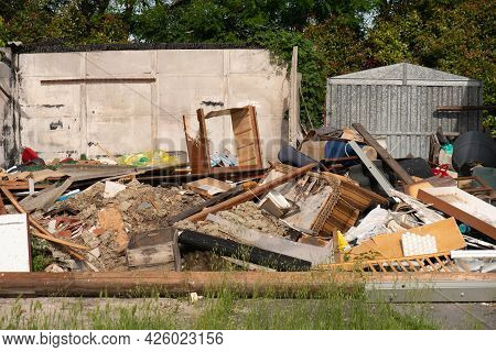 Outdoor Dumping Of Various Materials, Old Furniture, Sofas And More.