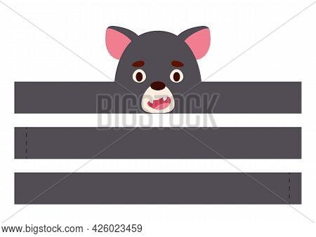 Printable Tasmanian Devil Paper Crown. Diy Cut Party Ribbon Template For Birthday, Christmas, Baby S