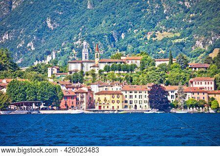 Malgrate Village On Como Lake Near Lecco, Lombardy Region Of Italy