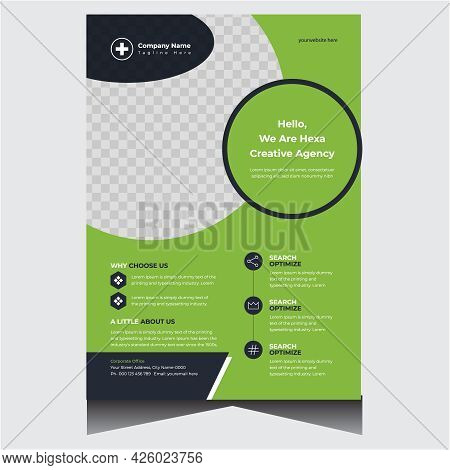 Green Advertising Creative Company Business Flyer Design Template