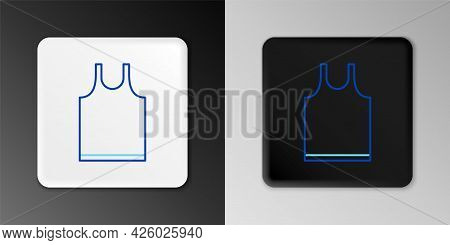Line Sleeveless T-shirt Icon Isolated On Grey Background. Colorful Outline Concept. Vector