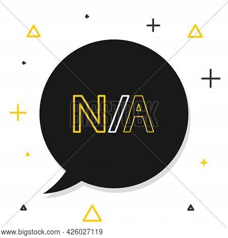 Line Not Applicable Icon Isolated On White Background. Colorful Outline Concept. Vector