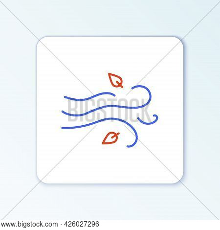 Line Wind Icon Isolated On White Background. Windy Weather. Colorful Outline Concept. Vector