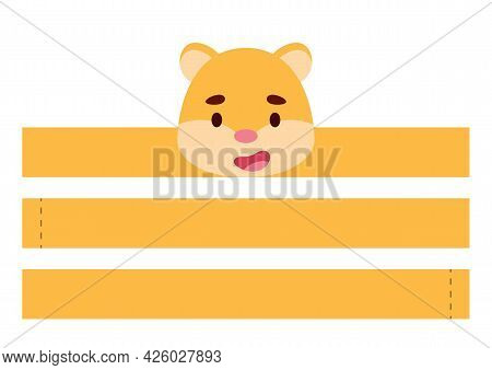 Printable Hamster Paper Crown. Diy Cut Party Ribbon Template For Birthday, Christmas, Baby Shower. F