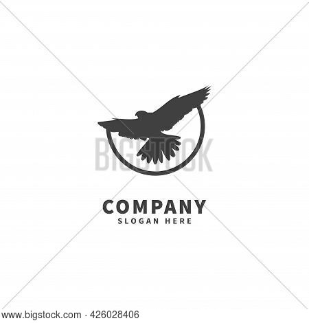 Falcon Logo Design Template, Icon Illustration, Flying