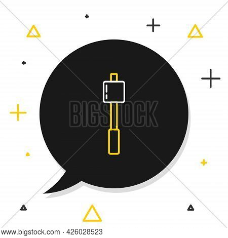 Line Marshmallow On Stick Icon Isolated On White Background. Colorful Outline Concept. Vector