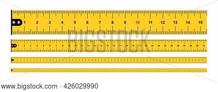 Yellow Measure Tape, Centimeters. Dual Scale. Ruler Measuring Tapes. Ruler 100 Cm. Measuring Tool