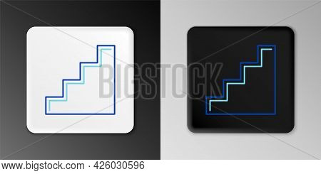 Line Staircase Icon Isolated On Grey Background. Colorful Outline Concept. Vector