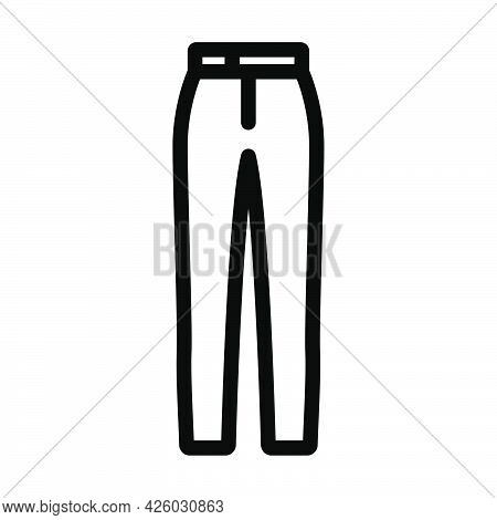 Business Trousers Icon. Bold Outline Design With Editable Stroke Width. Vector Illustration.
