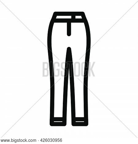 Business Woman Trousers Icon. Bold Outline Design With Editable Stroke Width. Vector Illustration.
