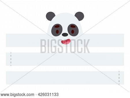 Printable Panda Paper Crown. Diy Cut Party Ribbon Template For Birthday, Christmas, Baby Shower. Fun