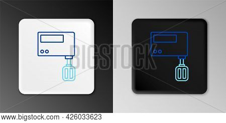Line Electric Mixer Icon Isolated On Grey Background. Kitchen Blender. Colorful Outline Concept. Vec