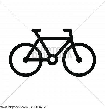 Bike Icon. Bold Outline Design With Editable Stroke Width. Vector Illustration.