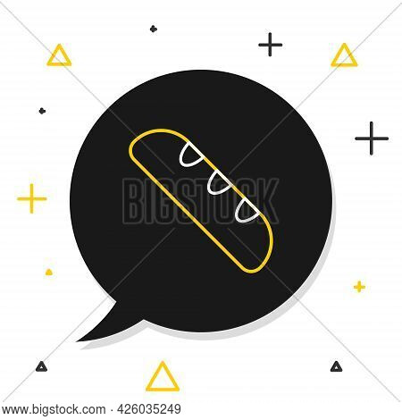 Line French Baguette Bread Icon Isolated On White Background. Colorful Outline Concept. Vector