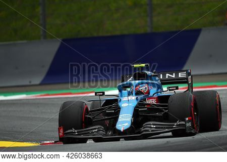 Spielberg, Austria. 2 July 2021.  Esteban Ocon Of Alpine F1 Team    On Track During Free Practice Of