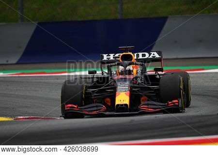 Spielberg, Austria. 2 July 2021.  Max Verstappen Of Red Bull Racing   On Track During Free Practice