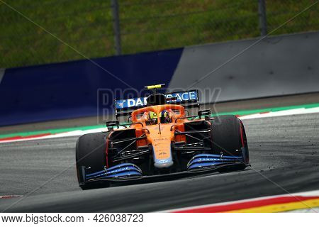 Spielberg, Austria. 2 July 2021.  Lando Norris Of Mclaren   On Track During Free Practice Of   Formu
