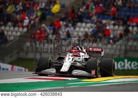 Spielberg, Austria. 2 July 2021.  Kimi Raikkonen Of Alfa Romeo Racing   On Track During Free Practic