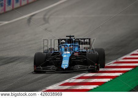 Spielberg, Austria. 2 July 2021.  Fernando Alonso Of Alpine F1 Team    On Track During Free Practice