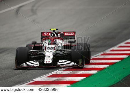 Spielberg, Austria. 2 July 2021.  Antonio Giovinazzi Of Alfa Romeo Racing   On Track During Free Pra