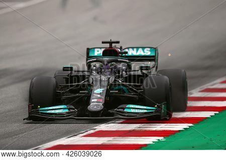 Spielberg, Austria. 2 July 2021.  Lewis Hamilton Of Mercedes Amg F1 Team   On Track During Free Prac