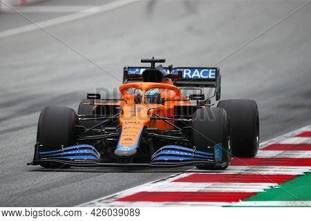 Spielberg, Austria. 2 July 2021.  Daniel Ricciardo Of Mclaren   On Track During Free Practice Of   F