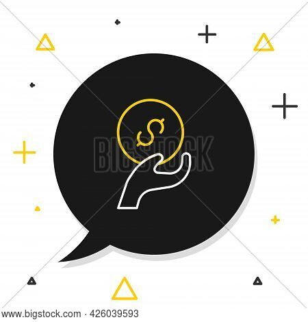 Line Donation And Charity Icon Isolated On White Background. Donate Money And Charity Concept. Color