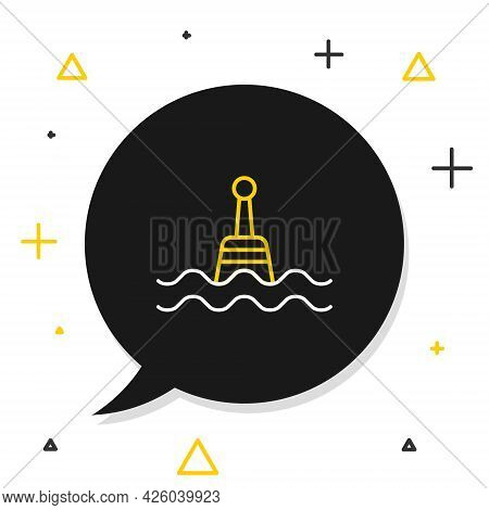 Line Floating Buoy On The Sea Icon Isolated On White Background. Colorful Outline Concept. Vector