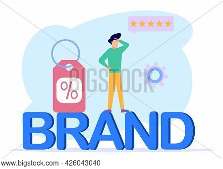 Vector Illustration Of Business Concepts, Company Products, Marketing And Promotional Campaigns. Tra