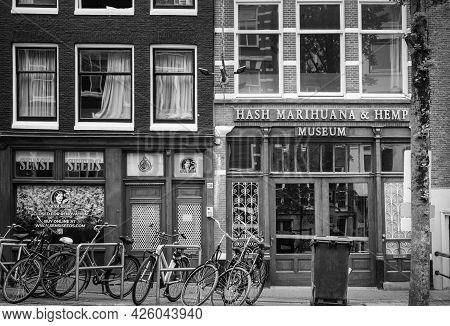 Amsterdam, Netherlands. June 06, 2021. Hash Marihuana And Hemp Museum.