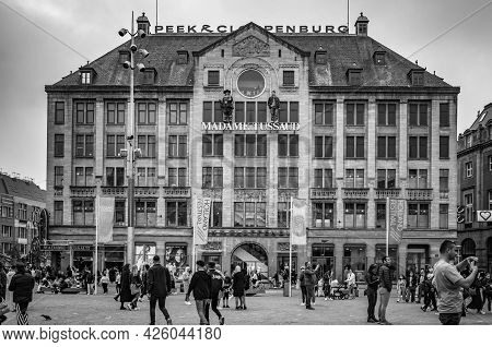 Amsterdam, Netherlands. June 06, 2021. Dam Square. Madame Tussaud Museum