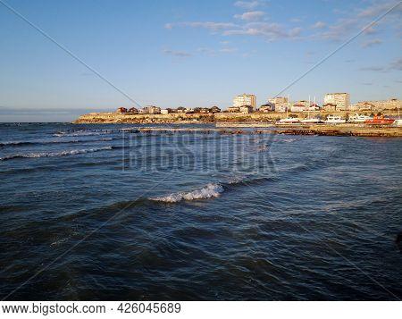 A City On The Shores Of The Caspian Sea. Kazakhstan. Mangistau Region. Aktau City. 05 November 2019