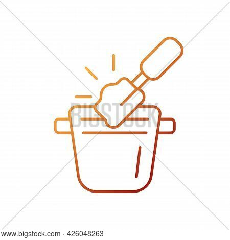 Coffee Knock Box Gradient Linear Vector Icon. Container For Dumping Processed Ground. Barista Access