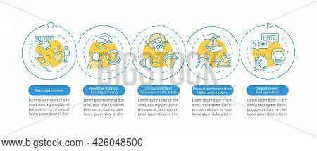 Asd Diagnosis Vector Infographic Template. Unusual Reactions Presentation Outline Design Elements. D