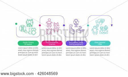 Asd Causes Vector Infographic Template. Tuberous Sclerosis, Fxs Presentation Outline Design Elements