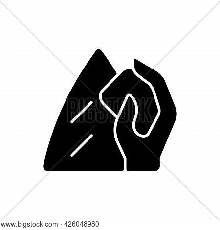 Surfboard Wax Black Glyph Icon. Surfwax For Applying To Board Deck. Providing Grip And Traction For