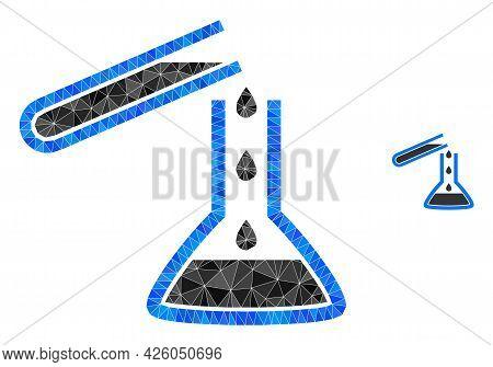 Triangle Chemical Liquid Glasses Polygonal Icon Illustration. Chemical Liquid Glasses Lowpoly Icon I