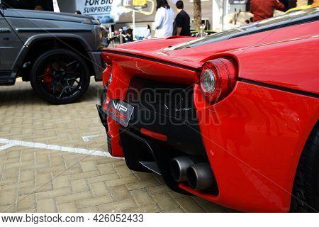 Dubai, Uae - November 16: The Ferrari Laferrari  Sportscar Is On Dubai Motor Show 2019 On November 1