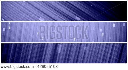 Blue Background, Purple Background. Blue And Purple Stripes With White And Blue Rectangles. Abstract