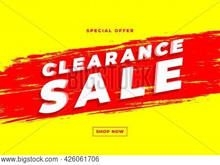 Special Offer Clearance Sale Banner Template Vector.