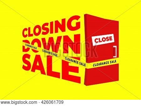 Closing Down Sale, Clearance Sale Banner Template.