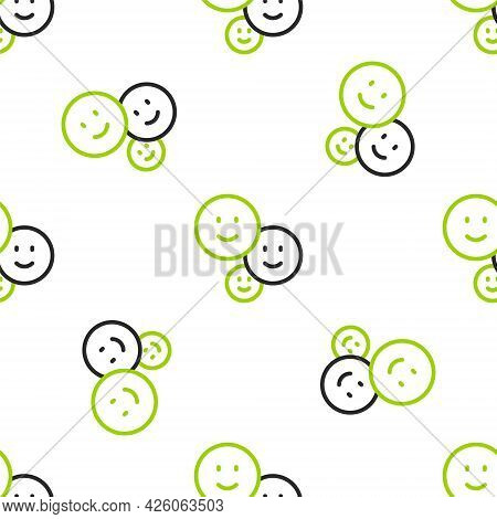 Line Happy Friendship Day Icon Isolated Seamless Pattern On White Background. Everlasting Friendship